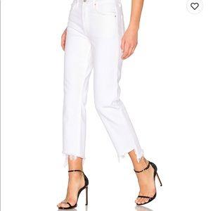 Grlfrnd Helena high rise crop jean in white